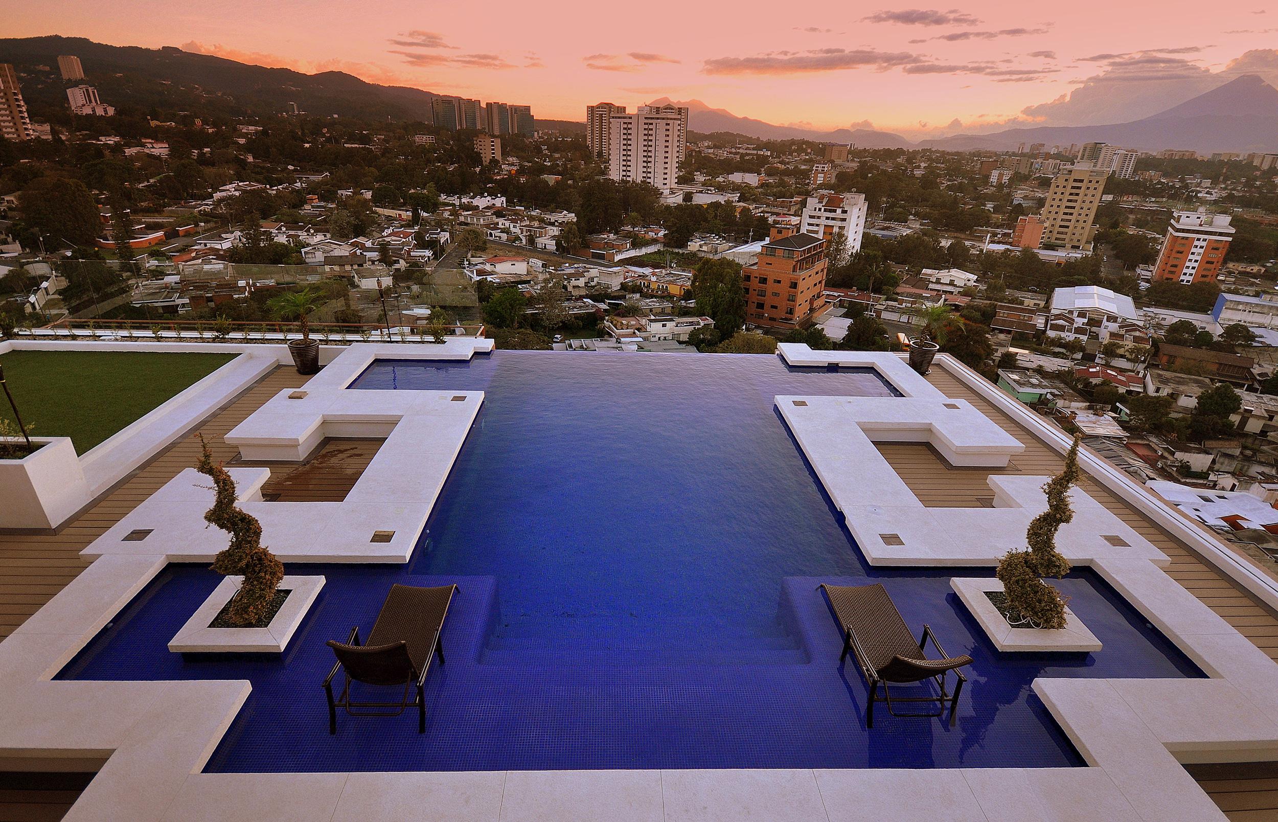 Vista desde las alturas de una zona desarrollada por inversiones inmobiliarias