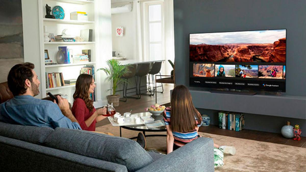 Smart tv en sala