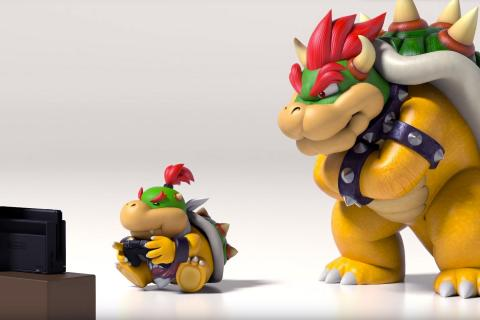 bowser con baby bowser