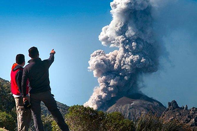 volcán Santiaguito en Guatemala