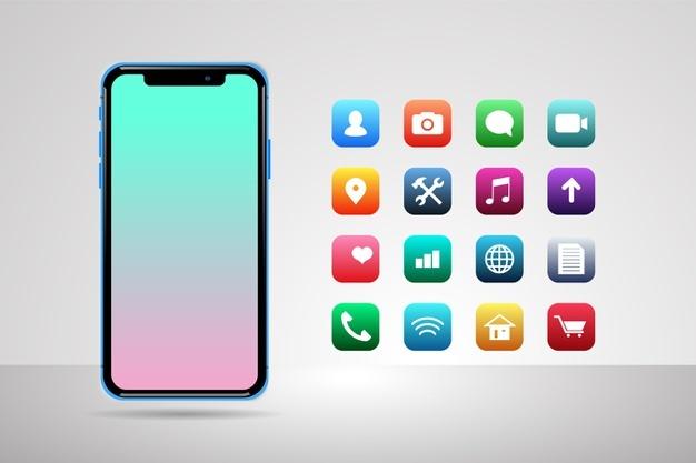 celular con aplicaciones