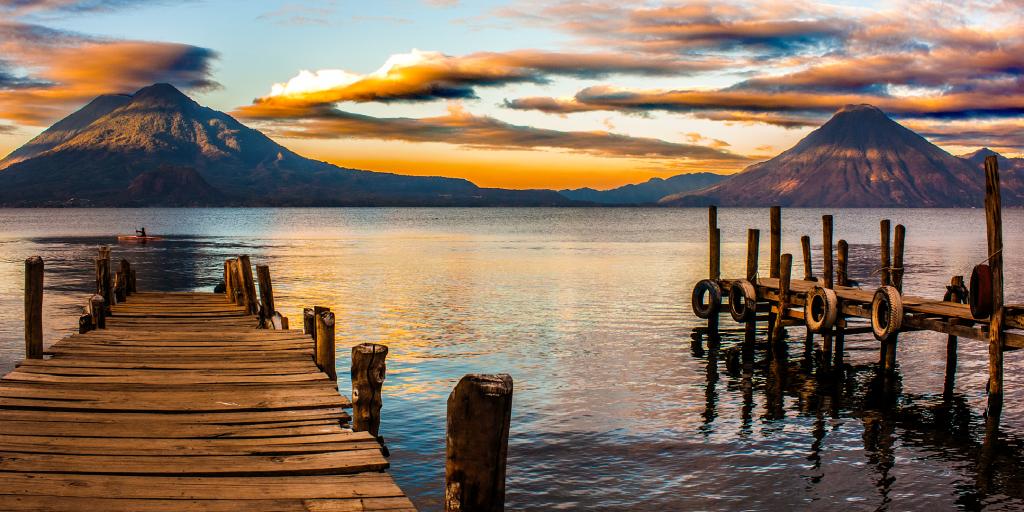 vista del lago de Atitlán